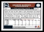 2008 Topps #250  Asante Samuel  Back Thumbnail