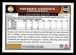 2008 Topps #412  Tavares Gooden  Back Thumbnail