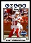 2008 Topps #308   -  Peyton Manning Pro Bowl Front Thumbnail