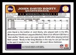 2008 Topps #336  John David Booty  Back Thumbnail