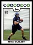 2008 Topps #380  John Carlson  Front Thumbnail