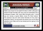 2008 Topps #279  Walter Jones  Back Thumbnail