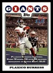2008 Topps #318  Plaxico Burress  Front Thumbnail
