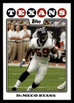 2008 Topps #238  DeMeco Ryans  Front Thumbnail