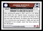 2008 Topps #305   -  Jason Witten Pro Bowl Back Thumbnail