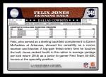 2008 Topps #349  Felix Jones  Back Thumbnail