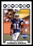 2008 Topps #302   -  Terrell Owens Pro Bowl Front Thumbnail