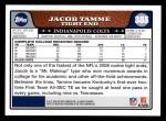 2008 Topps #385  Jacob Tamme  Back Thumbnail