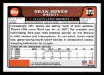 2008 Topps #272  Sean Jones  Back Thumbnail