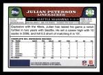 2008 Topps #242  Julian Peterson  Back Thumbnail