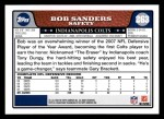 2008 Topps #263  Bob Sanders  Back Thumbnail