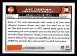 2008 Topps #281  Joe Thomas  Back Thumbnail