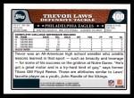 2008 Topps #400  Trevor Laws  Back Thumbnail