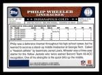 2008 Topps #414  Philip Wheeler  Back Thumbnail