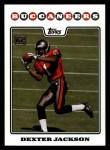 2008 Topps #370  Dexter Jackson  Front Thumbnail
