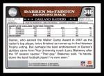 2008 Topps #346  Darren McFadden  Back Thumbnail