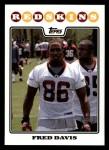 2008 Topps #379  Fred Davis  Front Thumbnail