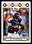 2008 Topps #298   -  Adrian Peterson Pro Bowl Front Thumbnail