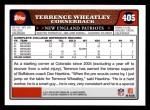 2008 Topps #405  Terrence Wheatley  Back Thumbnail
