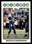 2008 Topps #326   Seattle Seahawks Front Thumbnail
