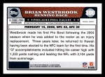 2008 Topps #300   -  Brian Westbrook Pro Bowl Back Thumbnail