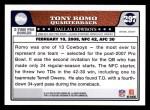 2008 Topps #297   -  Tony Romo Pro Bowl Back Thumbnail