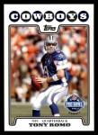 2008 Topps #297   -  Tony Romo Pro Bowl Front Thumbnail