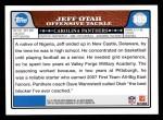 2008 Topps #389  Jeff Otah  Back Thumbnail