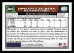 2008 Topps #408  Lawrence Jackson  Back Thumbnail