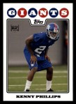 2008 Topps #433  Kenny Phillips  Front Thumbnail