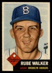 1953 Topps #134  Rube Walker  Front Thumbnail