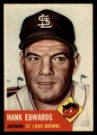1953 Topps #90  Hank Edwards  Front Thumbnail