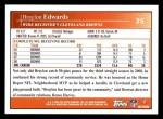 2009 Topps #35  Braylon Edwards  Back Thumbnail