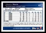 2009 Topps #67  Maurice Morris  Back Thumbnail