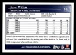 2009 Topps #56  Jason Witten  Back Thumbnail