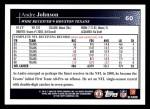 2009 Topps #60  Andre Johnson  Back Thumbnail