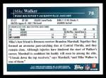 2009 Topps #78  Mike Walker  Back Thumbnail