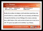 2009 Topps #14  Joe Thomas  Back Thumbnail