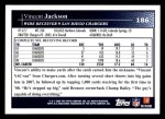 2009 Topps #186  Vincent Jackson  Back Thumbnail
