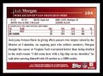 2009 Topps #104  Josh Morgan  Back Thumbnail