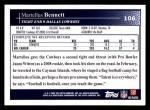 2009 Topps #106  Martellus Bennett  Back Thumbnail
