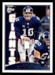 2009 Topps #159  Eli Manning  Front Thumbnail