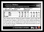 2009 Topps #165  Santonio Holmes  Back Thumbnail