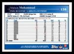 2009 Topps #136  Muhsin Muhammad  Back Thumbnail