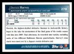 2009 Topps #278  Derrick Harvey  Back Thumbnail