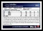 2009 Topps #202  Tony Scheffler  Back Thumbnail
