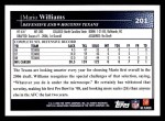 2009 Topps #201  Mario Williams  Back Thumbnail