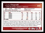 2009 Topps #205  Larry Fitzgerald  Back Thumbnail