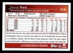 2009 Topps #219  Derrick Ward  Back Thumbnail