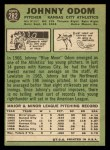 1967 Topps #282  Blue Moon Odom  Back Thumbnail